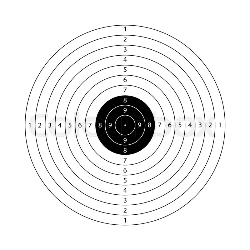 blank template for sport target shooting competition shooting range