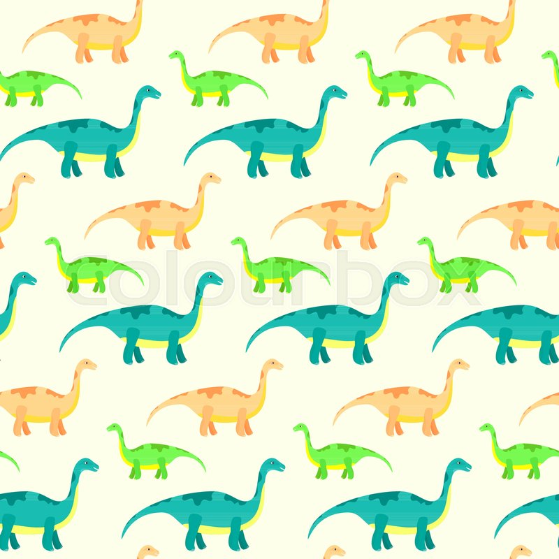 Kids Texture With Funny Dinosaurs For Textile Wrapping Paper Background Cards Party Banners Baby Shower Children Room Wallpaper Decoration