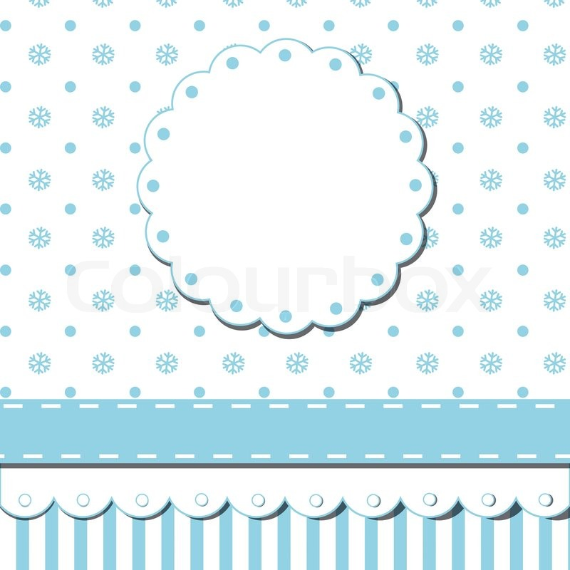 scrap template of pretty christmas vintage design with