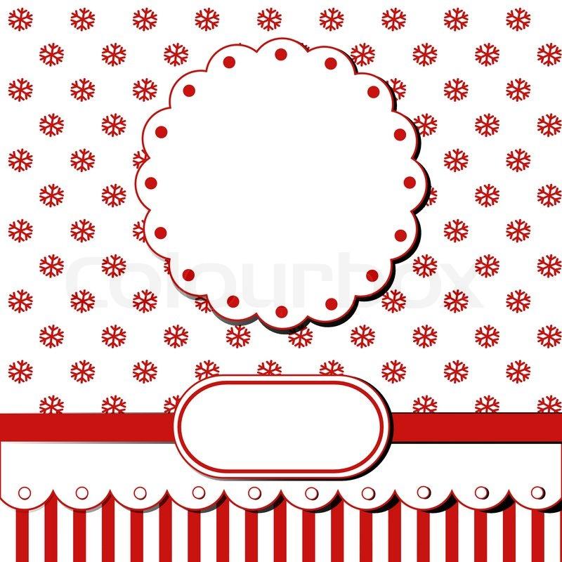 Scrap Vorlage von hübschen Weihnachten Vintage-Design mit leeren ...
