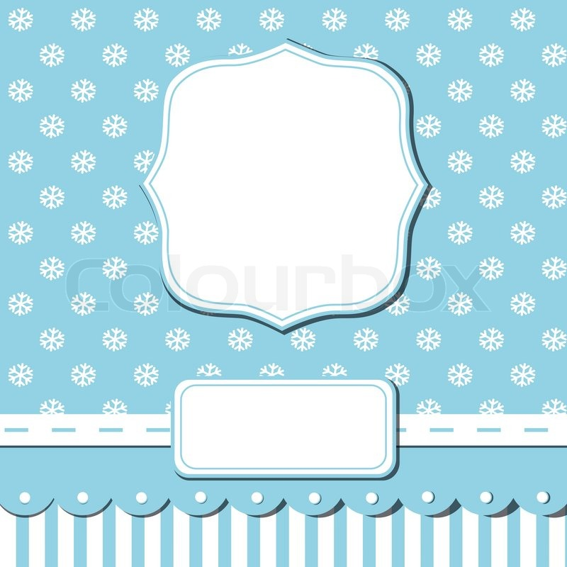 Scrap template of pretty christmas ... | Stock Vector ...