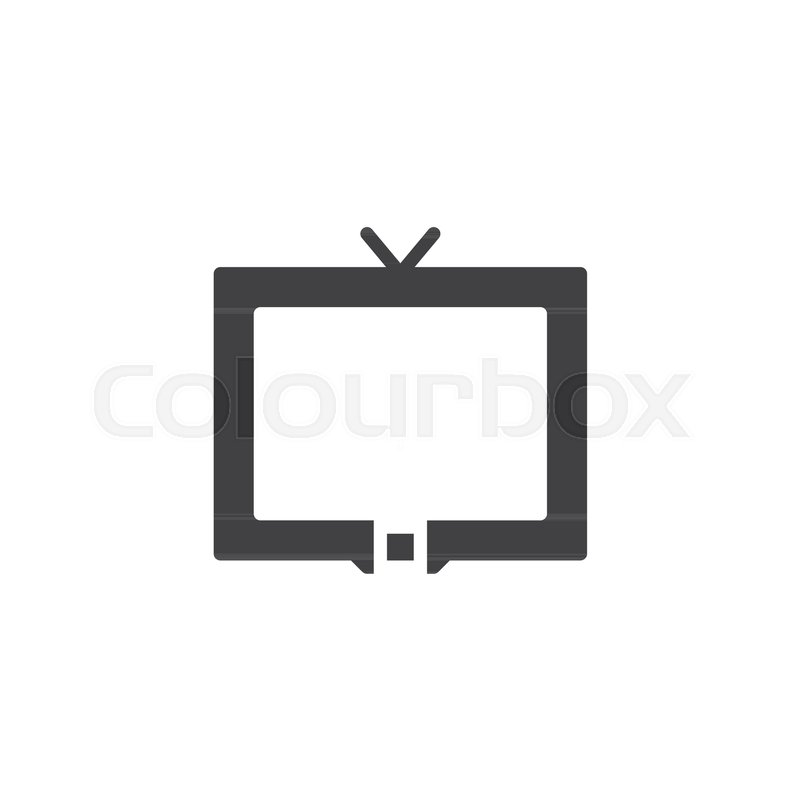 Television Icon Vector Filled Flat Sign Solid Pictogram Isolated
