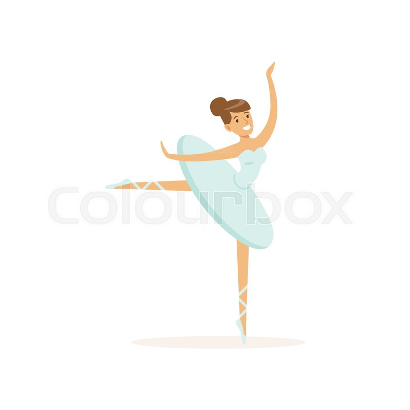 Professional Smiling Actress Of Ballet Stock Vector Colourbox