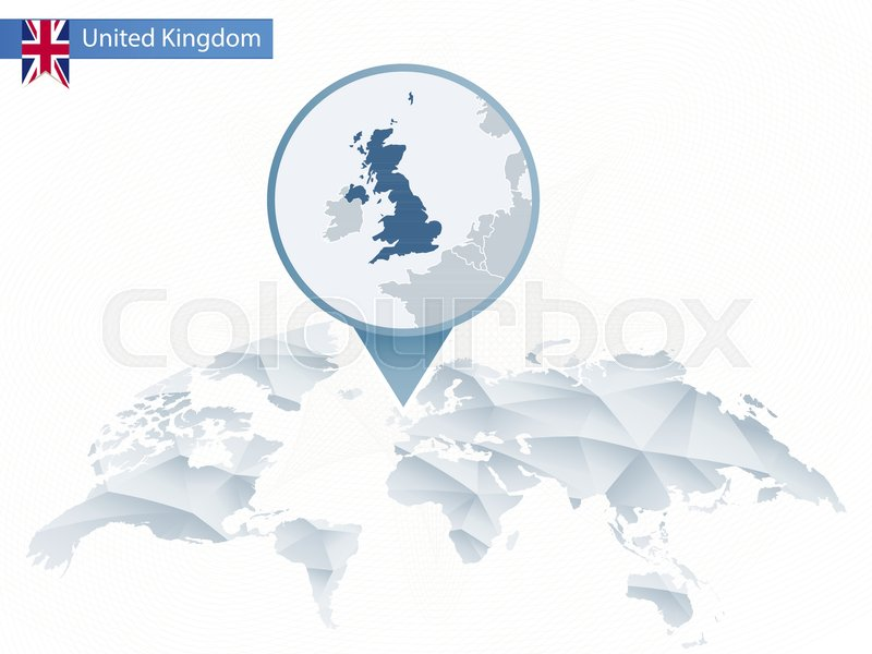 Abstract rounded world map with pinned detailed united kingdom map abstract rounded world map with pinned detailed united kingdom map vector illustration vector gumiabroncs Gallery