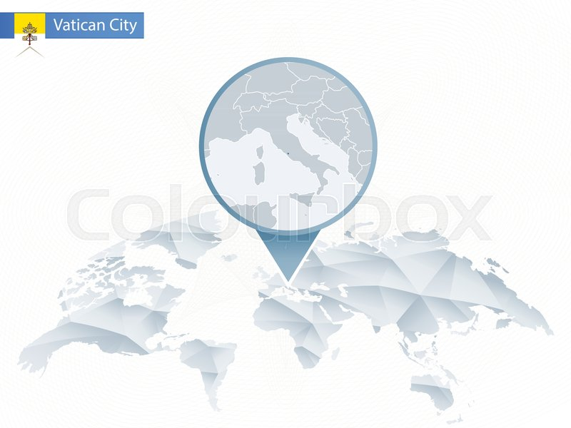 Abstract rounded world map with pinned detailed vatican city map abstract rounded world map with pinned detailed vatican city map vector illustration stock vector colourbox gumiabroncs Gallery