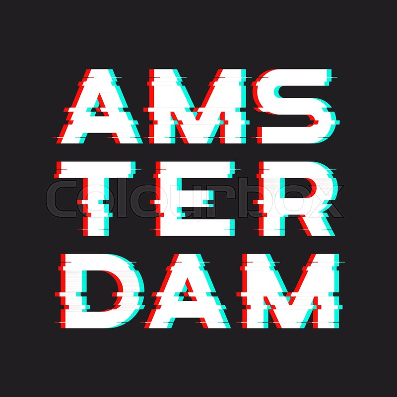 11dd6b17 Amsterdam t-shirt and apparel design ... | Stock vector | Colourbox