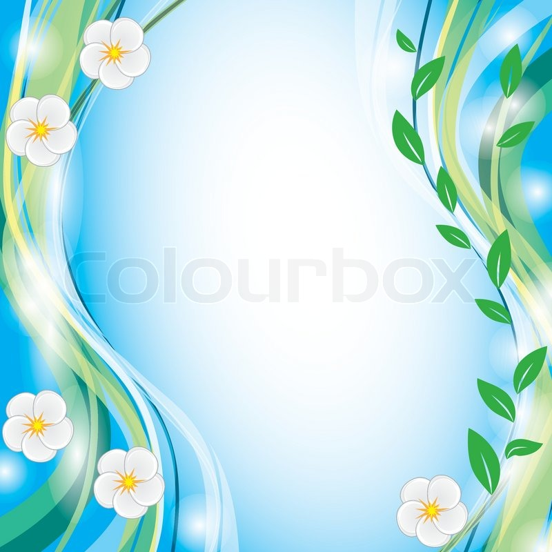 Summer Background With White Flowers Stock Vector Colourbox