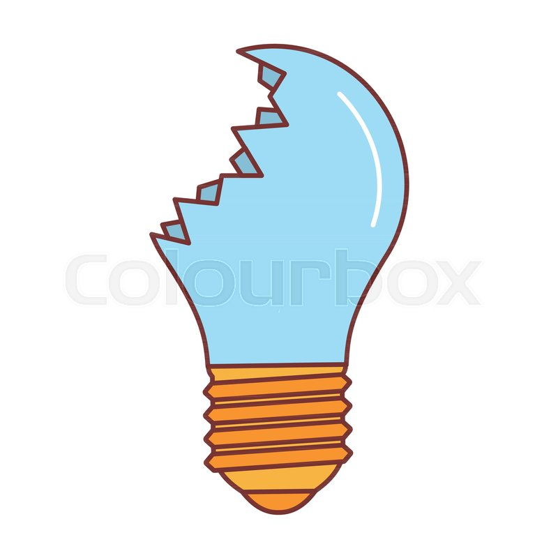 broken lamp icon cartoon illustration of broken lamp vector icon rh colourbox com lamp vector free download lamp vector png