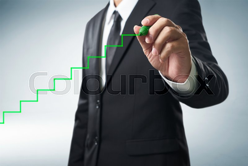 Stock image of 'Benchmarking and market leader concept. Manager (businessman, coach, leadership)'