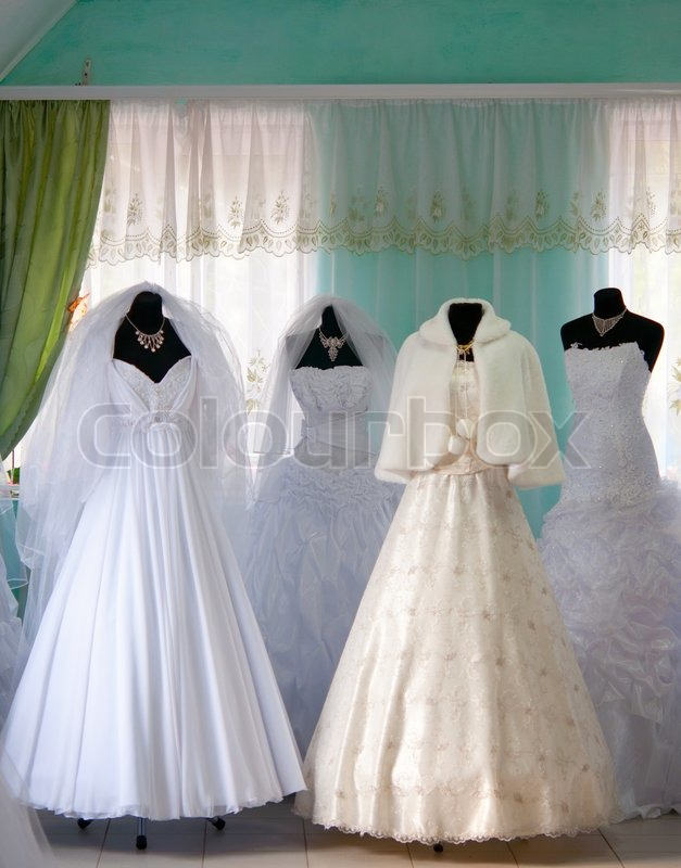 wedding dresses in the store stock photo colourbox. Black Bedroom Furniture Sets. Home Design Ideas