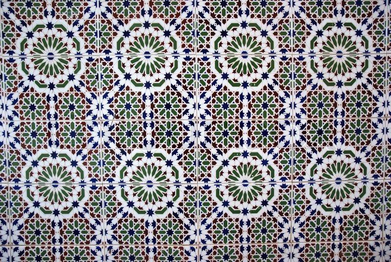 Mosaic dekoration p v ggen i spanien stock foto colourbox for Dekoration spanien