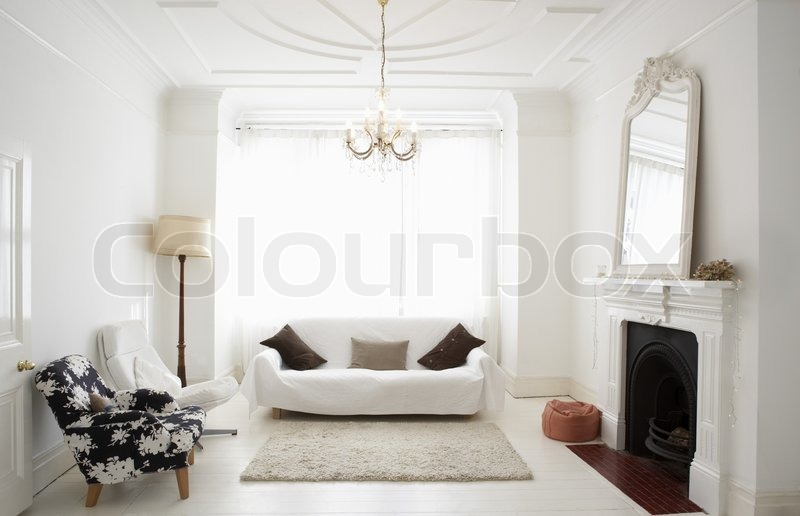 Empty Living Room Can Be Used As Background