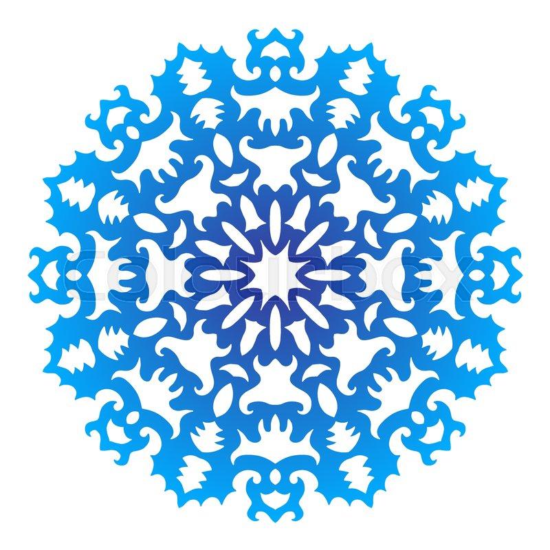 color snowflake lace color illustration on white background rh colourbox com Blue Snowflake Vector Snowflake Vector Black