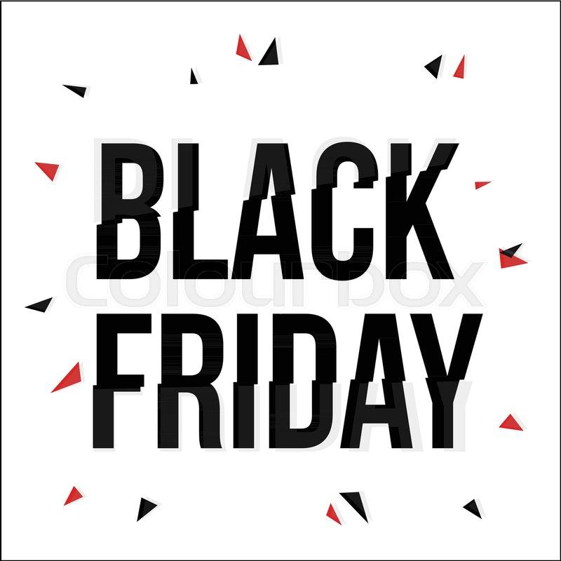 Black Friday lettering typescript in       Stock vector   Colourbox