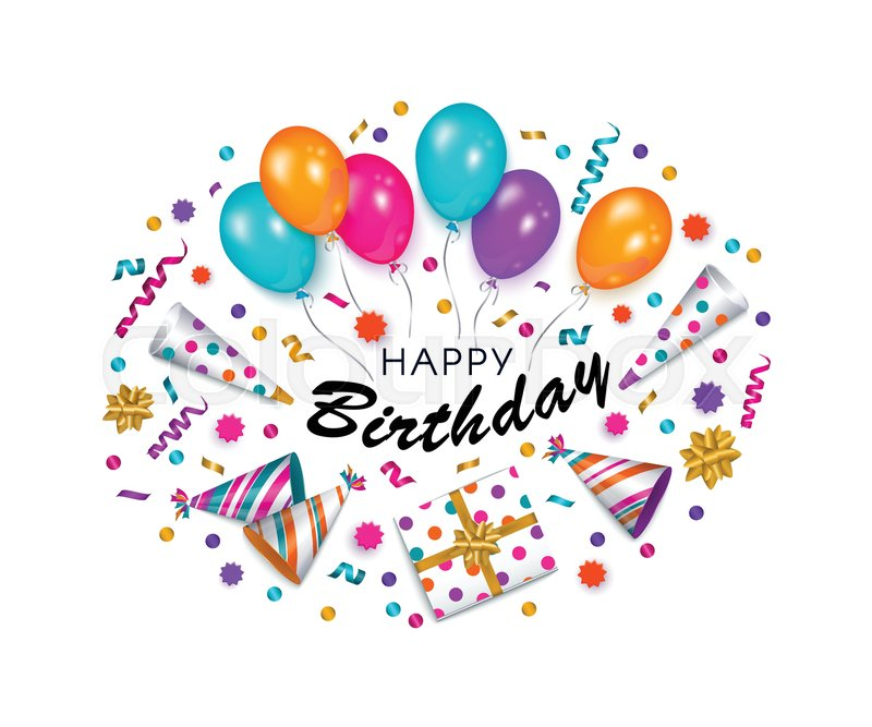 Happy Birthday Greeting Card, Banner, Poster Design With