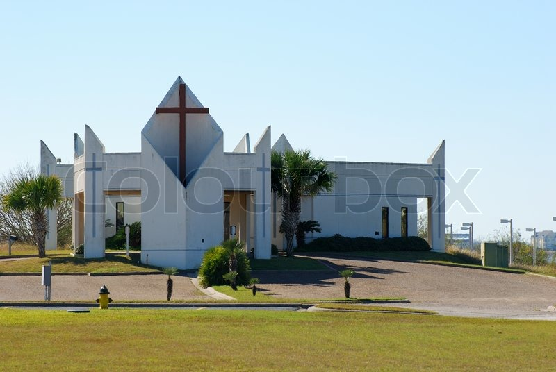 moderne kirche in corpus christi usa stockfoto colourbox