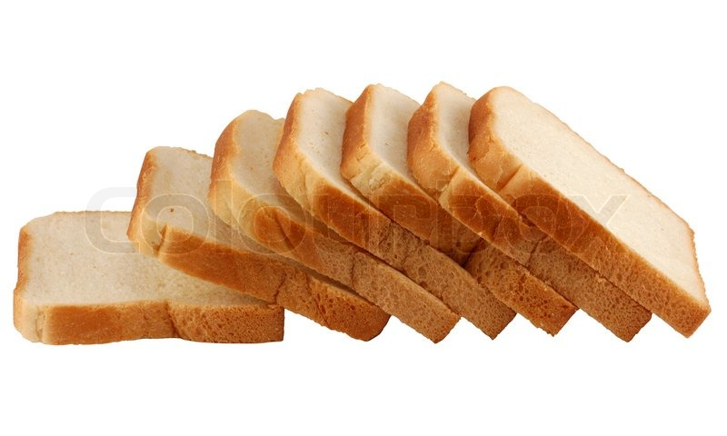 Toast Bread Isolated Over White Background With Clipping Path