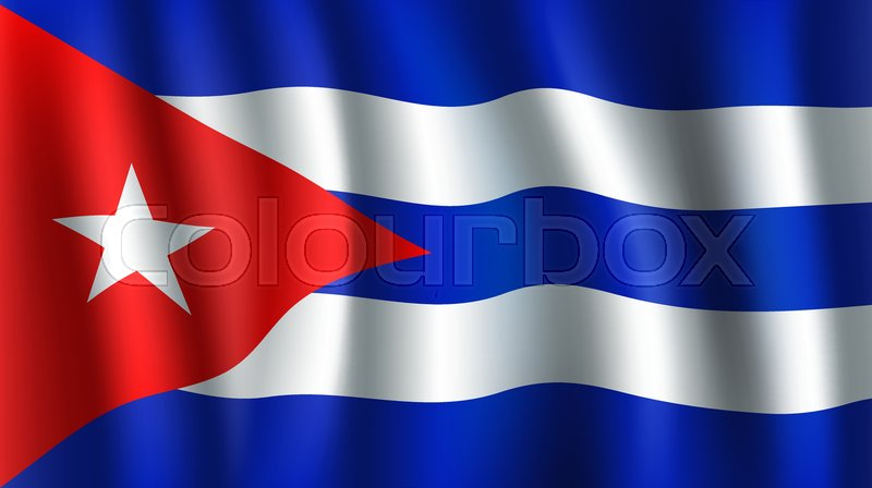 Stock Vector Of U0027Cuba Flag 3D Background Of White Star On Red Triangle  Background And