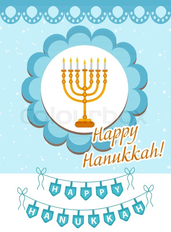 Happy Hanukkah greeting card, flyer, poster. Template for your ...