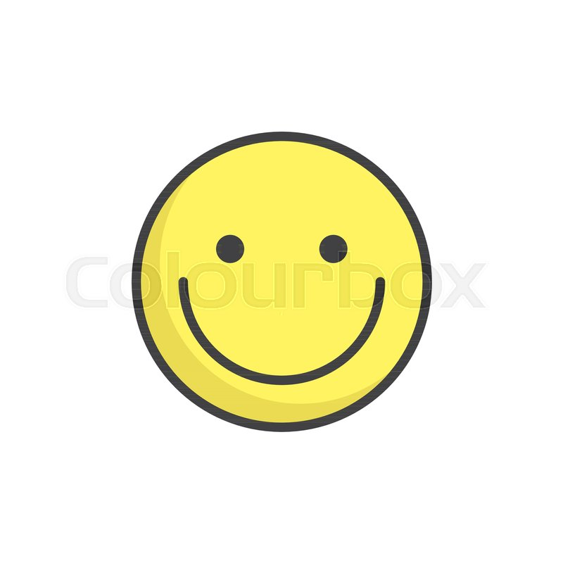 Smiling Face Emoticon Filled Outline Icon Line Vector Sign Linear