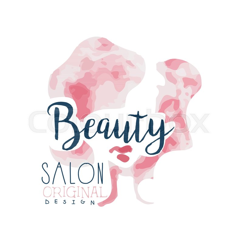 Beauty Salon Logo Original Design Stock Vector Colourbox