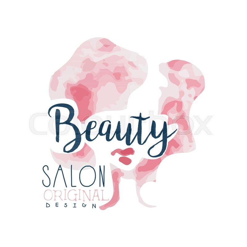 Beauty Salon Logo Original Design Stock Vector Colourbox