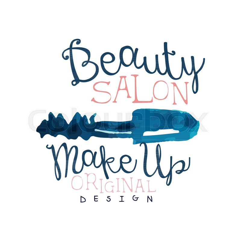 Beauty Salon Logo Make Up Original Stock Vector Colourbox