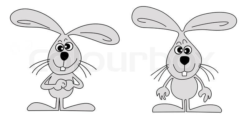 Zeichnen hasen auf wei em hintergrund stockfoto colourbox - Hase zeichnen ...