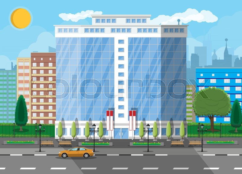 0a2e0b8517 Office building exterior. Commercial ...