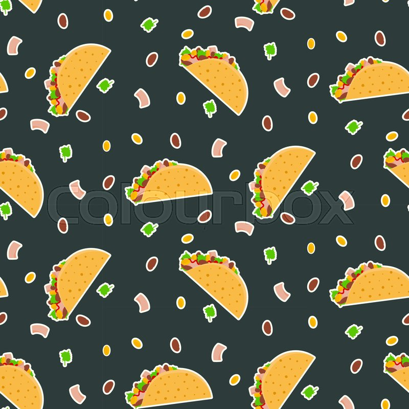 Nice Bright Fastfood Pattern For Textile Cafe And Restaurant Wrapping Paper Covers Banners Background Wallpaper Surface Vector