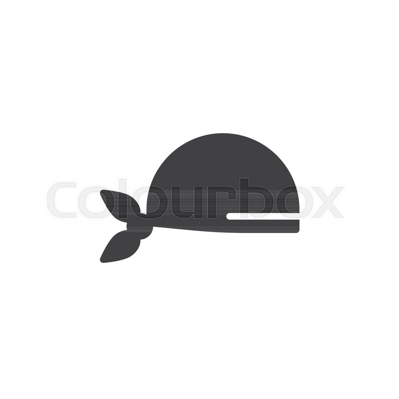 pirate scarf icon vector filled flat sign solid pictogram isolated