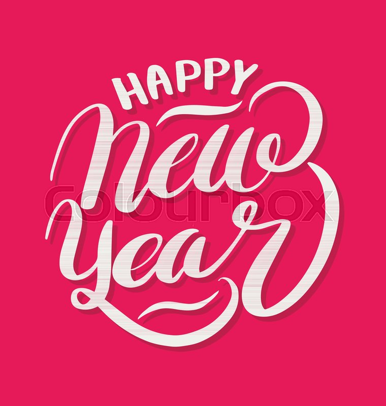 Happy New Year Lettering 83