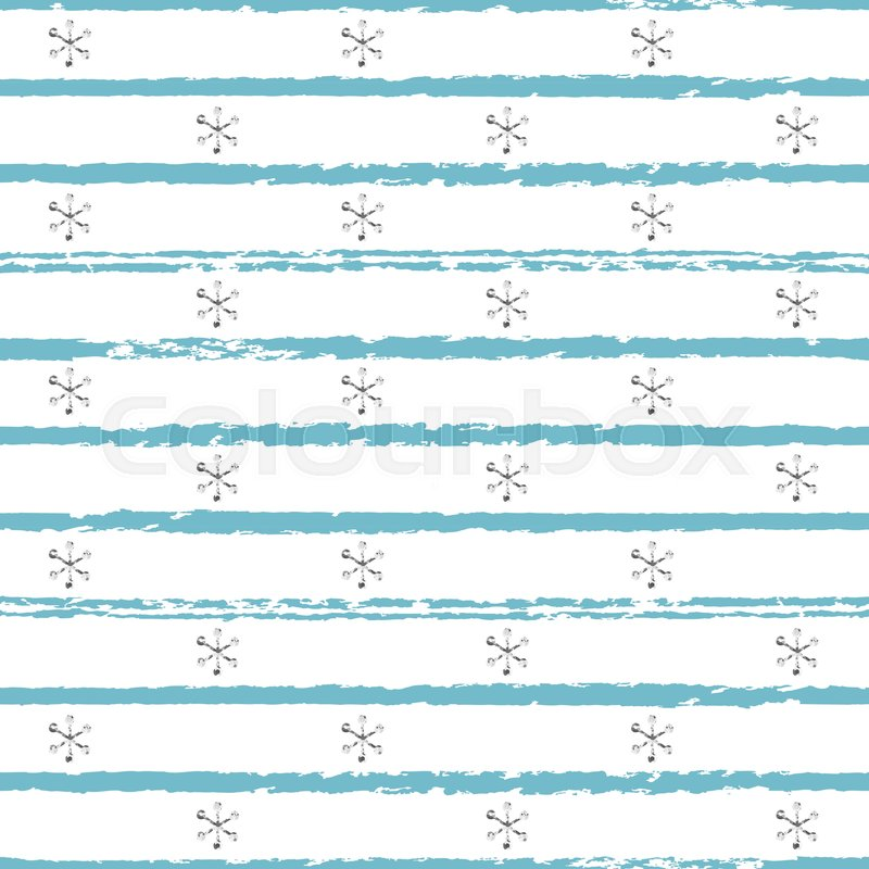 glitter silver striped christmas new year seamless pattern with snowflakes paint brush strokes background silver snowflakes stripes lines