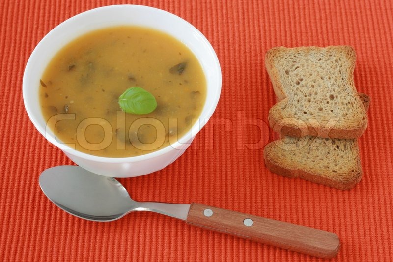Vegetable soup with basil | Stock Photo | Colourbox