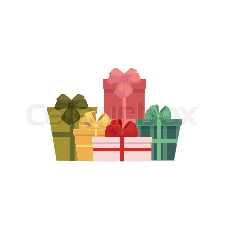 Group heap pile of colorful gift present boxes christmas icon group heap pile of colorful gift present boxes christmas icon decoration element cartoon vector illustration on white background negle Choice Image