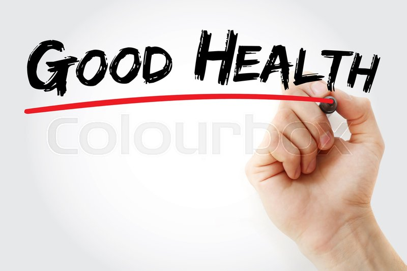 Hand writing Good Health with marker, concept background, stock photo