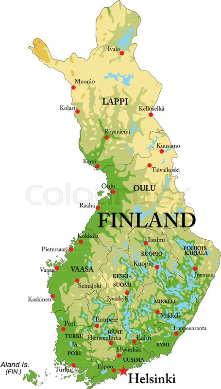 Image result for finland map