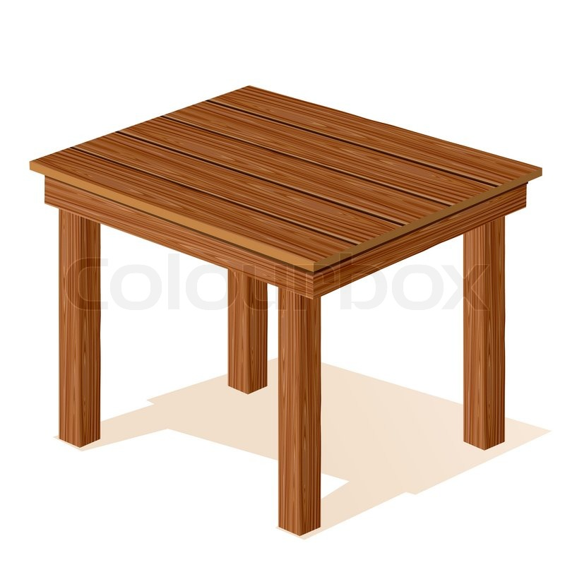 Vector Wooden Table Stock Colourbox