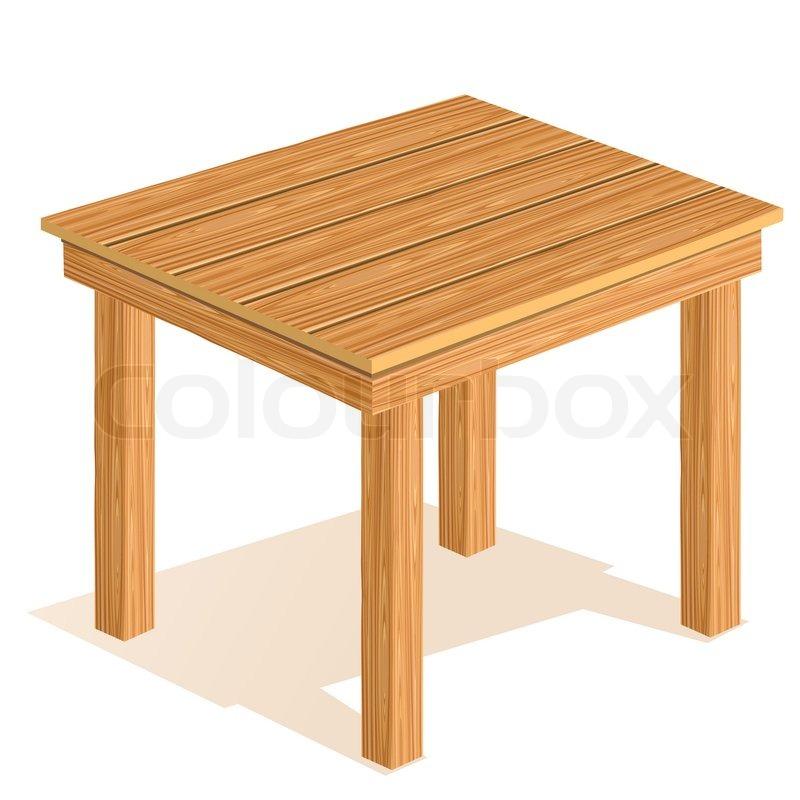 Vector Wooden Table Stock Colourbox