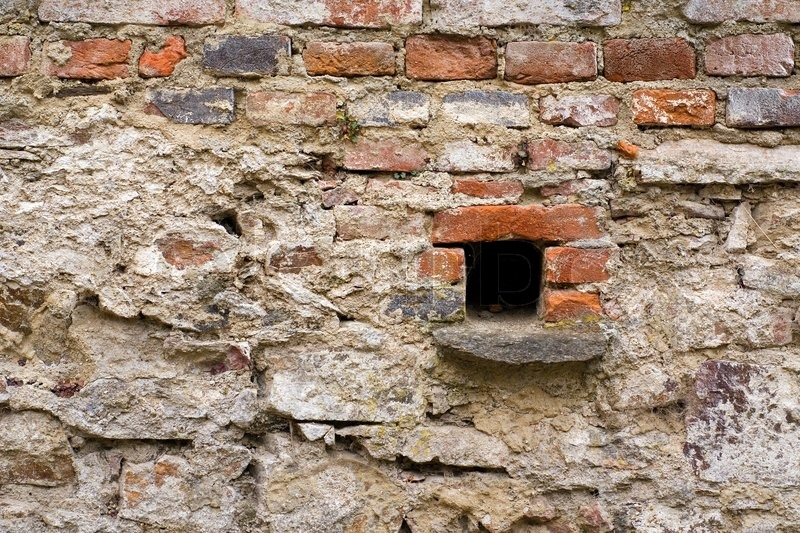 Hole in the wall, stock photo