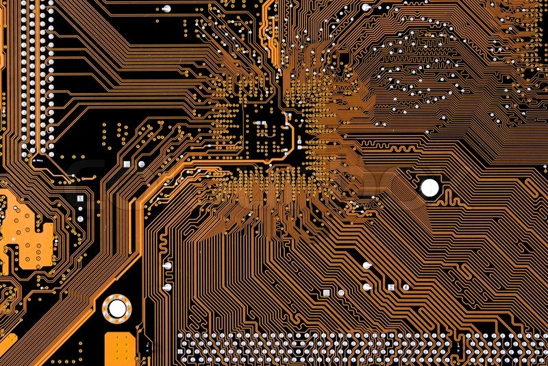 Close Up Photo Of Circuit Board In Stock Photo