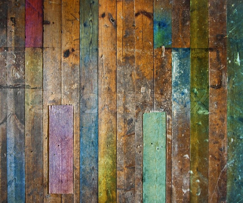 Colorful Old Wooden Floor Or Wall Stock Image Colourbox
