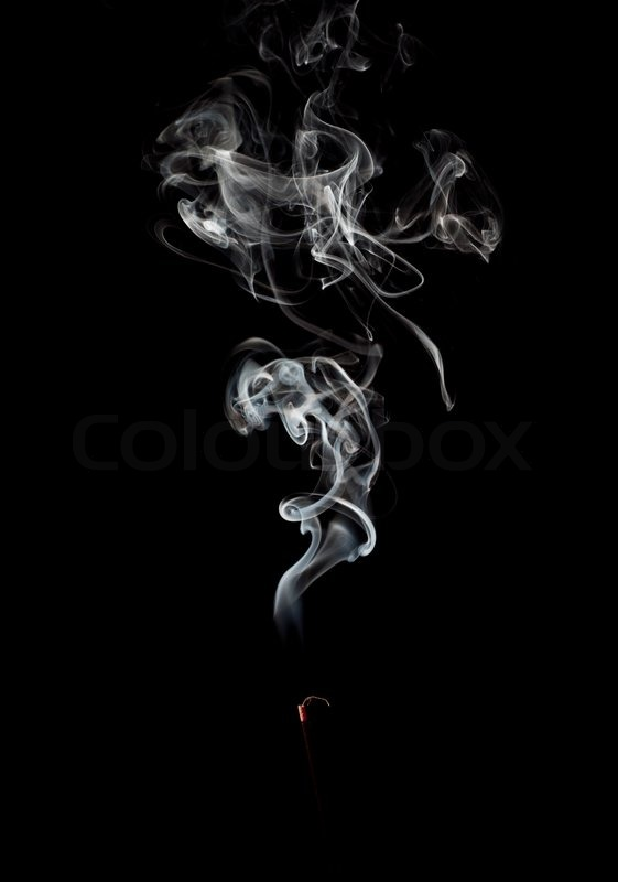 Abstract white Smoke on black background | Stock Photo ...