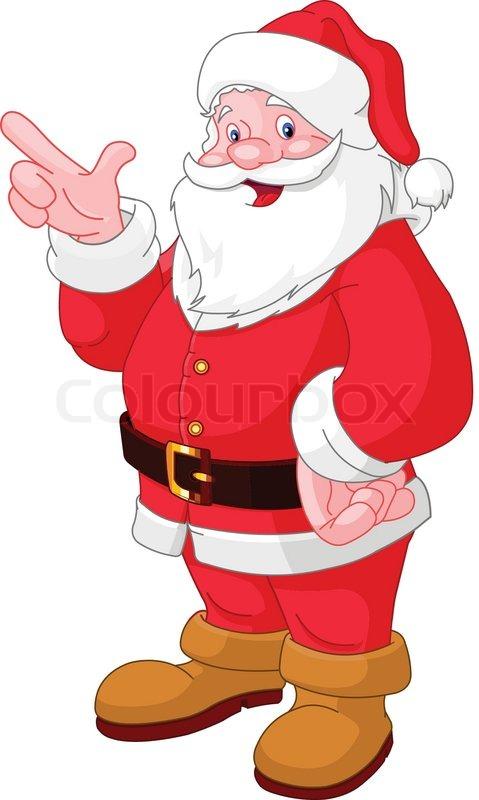 happy christmas santa claus pointing - Santa Claus Christmas