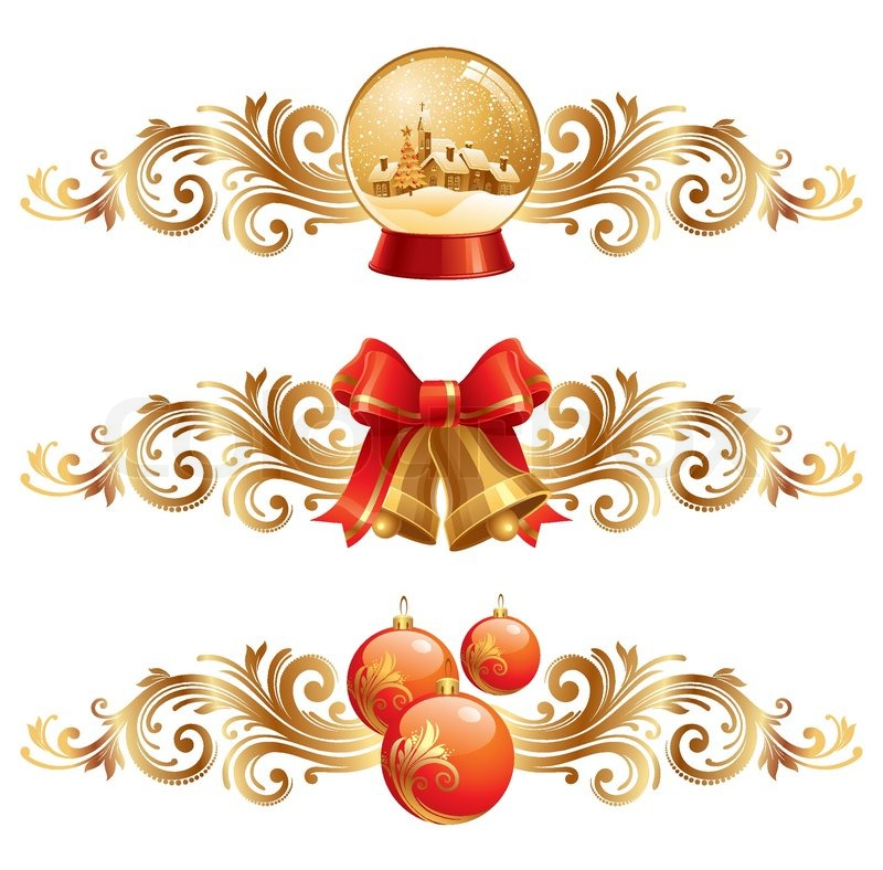 Christmas Design.Christmas Design Elements Holiday Stock Vector