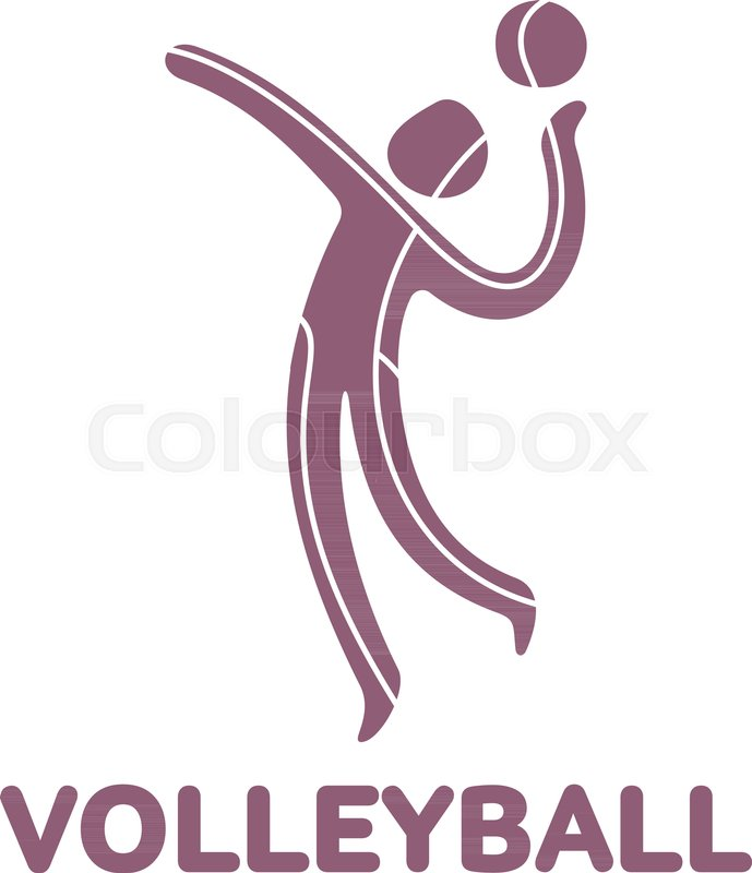 Volleyball sport game competition icon. Summer sport games symbols ...