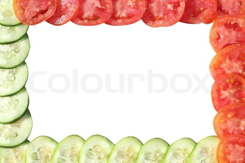 gem se rahmen gurken und tomaten stockfoto colourbox. Black Bedroom Furniture Sets. Home Design Ideas