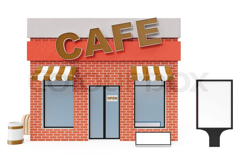 Cafe Store with copy space board     | Stock image | Colourbox