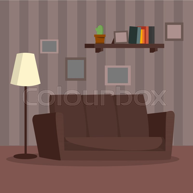 Home Interior Vector Cartoon Flat Stock Vector Colourbox