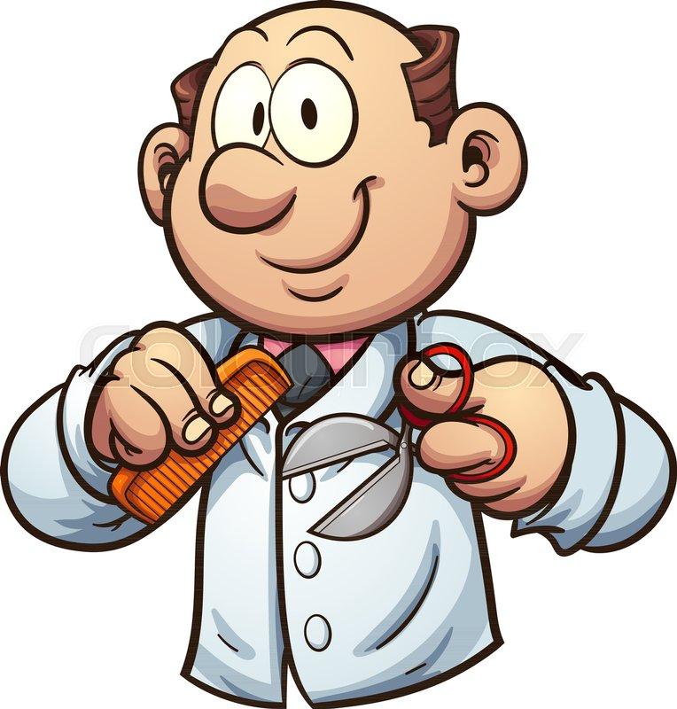 cartoon barber with comb and scissors vector clip art illustration rh colourbox com barber clip are barber clip are